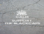 KEEP CALM AND SUPPORT THE BLACKCAPS - Personalised Poster A1 size