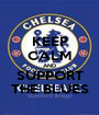 KEEP CALM AND SUPPORT THE BLUES - Personalised Poster A1 size