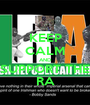 KEEP CALM AND SUPPORT THE RA - Personalised Poster A1 size