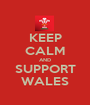 KEEP CALM AND SUPPORT WALES - Personalised Poster A1 size