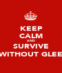 KEEP CALM AND SURVIVE WITHOUT GLEE - Personalised Poster A1 size
