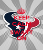 KEEP CALM AND SWATT ON - Personalised Poster A1 size