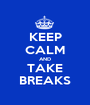 KEEP CALM AND TAKE BREAKS - Personalised Poster A1 size