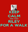 KEEP CALM AND TAKE RILEY FOR A WALK - Personalised Poster A1 size