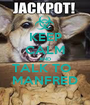 KEEP CALM AND TALK TO   MANFRED - Personalised Poster A1 size