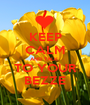 KEEP CALM AND TALK  TO YOUR BEZZE - Personalised Poster A1 size