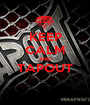 KEEP CALM AND TAPOUT  - Personalised Poster A1 size