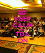 KEEP CALM AND TDA ON - Personalised Poster A1 size
