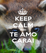 KEEP CALM AND TE AMO CARAI - Personalised Poster A1 size