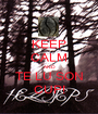 KEEP CALM AND TE LU SON CUP! - Personalised Poster A1 size