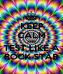 KEEP CALM AND TEST LIKE A ROCK STAR - Personalised Poster A1 size