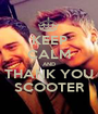 KEEP CALM AND THANK YOU SCOOTER - Personalised Poster A1 size