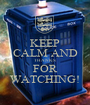 KEEP CALM AND THANKS FOR WATCHING! - Personalised Poster A1 size