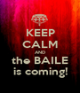 KEEP CALM AND the BAILE is coming! - Personalised Poster A1 size