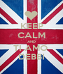 KEEP CALM AND TI AMO  DEBBI - Personalised Poster A1 size