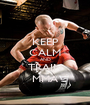 KEEP CALM AND TRAIN MMA - Personalised Poster A1 size