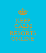 KEEP CALM AND TRAVEL RESORTS ONLINE - Personalised Poster A1 size