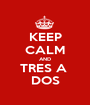 KEEP CALM AND TRES A  DOS - Personalised Poster A1 size
