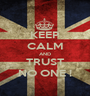 KEEP CALM AND TRUST NO ONE ! - Personalised Poster A1 size