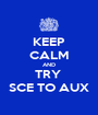 KEEP CALM AND TRY  SCE TO AUX - Personalised Poster A1 size