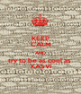 KEEP CALM AND try to be as cool as  KASVI - Personalised Poster A1 size