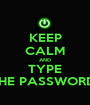 KEEP CALM AND TYPE THE PASSWORD  - Personalised Poster A1 size