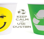 KEEP CALM AND USE  DUSTBIN - Personalised Poster A1 size