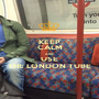 KEEP CALM AND USE THE LONDON TUBE - Personalised Poster A1 size