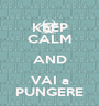 KEEP CALM AND VAI a PUNGERE - Personalised Poster A1 size