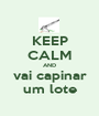 KEEP CALM AND vai capinar um lote - Personalised Poster A1 size