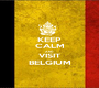 KEEP CALM AND VISIT BELGIUM - Personalised Poster A1 size