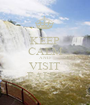 KEEP CALM AND VISIT FALLS - Personalised Poster A1 size