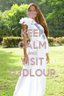 KEEP CALM AND VISIT G3DLOUP - Personalised Poster A1 size