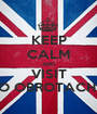 KEEP CALM AND VISIT O OBROTACH  - Personalised Poster A1 size