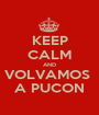 KEEP CALM AND VOLVAMOS  A PUCON - Personalised Poster A1 size