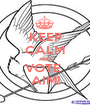KEEP CALM AND VOTE  AIM! - Personalised Poster A1 size