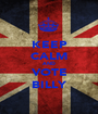 KEEP CALM AND VOTE BILLY - Personalised Poster A1 size