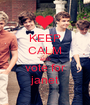 KEEP CALM AND vote for janet - Personalised Poster A1 size