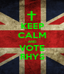 KEEP CALM AND VOTE RHYS - Personalised Poster A1 size
