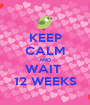 KEEP CALM AND WAIT  12 WEEKS - Personalised Poster A1 size
