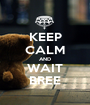 KEEP CALM AND WAIT BREE - Personalised Poster A1 size