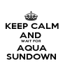KEEP CALM AND  WAIT FOR  AQUA SUNDOWN - Personalised Poster A1 size