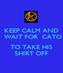 KEEP CALM AND  WAIT FOR  CATO  TO TAKE HIS SHIRT OFF - Personalised Poster A1 size