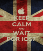 KEEP CALM AND WAIT FOR IOS7 - Personalised Poster A1 size