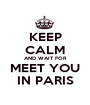 KEEP CALM AND WAIT FOR MEET YOU IN PARIS - Personalised Poster A1 size