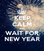 KEEP CALM AND WAIT FOR NEW YEAR - Personalised Poster A1 size