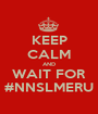 KEEP CALM AND WAIT FOR #NNSLMERU - Personalised Poster A1 size