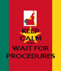 KEEP CALM AND WAIT FOR PROCEDURES - Personalised Poster A1 size