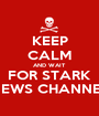 KEEP CALM AND WAIT FOR STARK NEWS CHANNEL - Personalised Poster A1 size