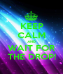 KEEP CALM AND WAIT FOR THE DROP! - Personalised Poster A1 size